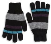 Paul Smith Striped Lambswool Gloves
