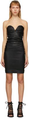 Unravel Black Strapless Plunge Dress