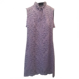 Sandro Spring Summer 2019 Purple Lace Dresses
