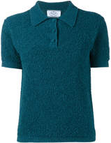 Prada textured polo top