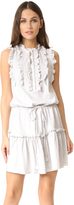 Rebecca Taylor Sleeveless Ruffle Jersey Dress