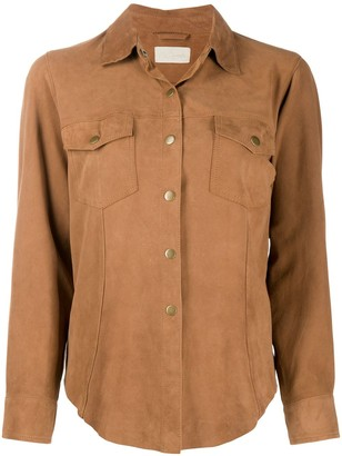 Mes Demoiselles Suede Chest Pocket Shirt
