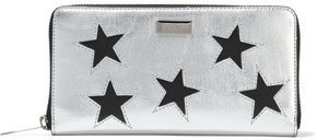 Stella McCartney Stars Metallic Faux Textured-leather Continental Wallet