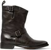 Belstaff Bedford Buckled Textured-Leather Boots
