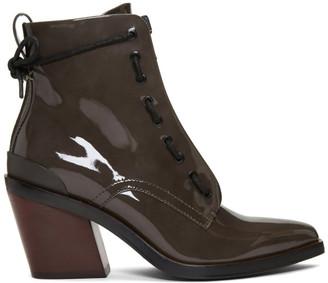 Rag & Bone Grey Patent Ryder Boots