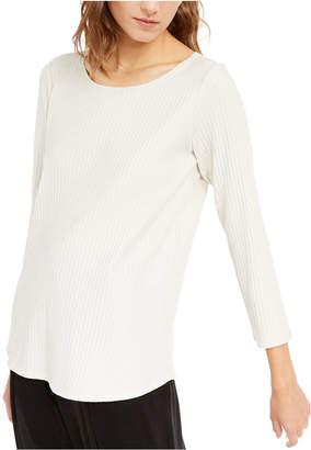 Eileen Fisher Long-Sleeve Scoop-Neck Top
