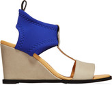 MM6 MAISON MARGIELA Neoprene and leather wedge sandals