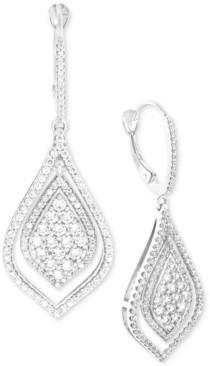 Wrapped in Love Diamond Teardrop-Style Drop Earrings (1-1/2 ct. t.w.) in 14k White Gold, Created for Macy's