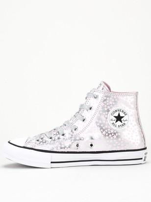 Converse Chuck Taylor All Star Hi Junior Trainer - Silver Pink