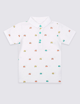 Marks and Spencer Pure Cotton Printed Polo Shirt (3 Months - 5 Years)