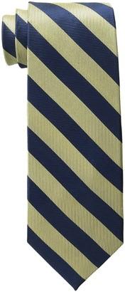 Bruno Piattelli Men's Tall-Plus-Size Extra Long Club Stripe Silk Tie
