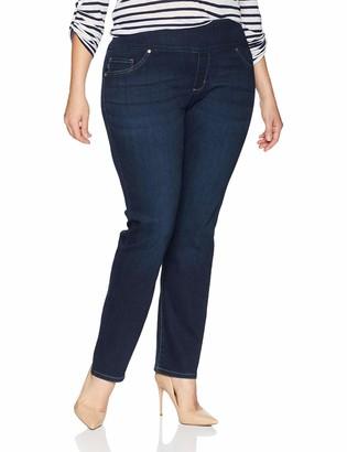 Lee Women's Plus-Size Sculpting Fit Slim Leg Pull On Jean