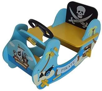 Camilla And Marc Kiddi Style Children's Pirate Wooden Rocker Ride On Boat, 69 x 34 x 44 cm