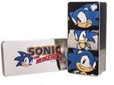 TruffleShuffle Pack Of 3 Sonic The Hedgehog Socks In Tin