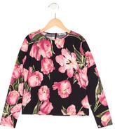 Dolce & Gabbana Girls' Tulip Print Long Sleeve Top 32