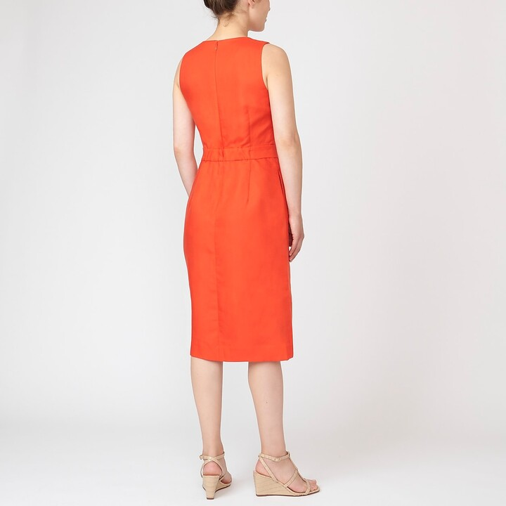 Thumbnail for your product : J.Crew Structured linen-blend sheath dress