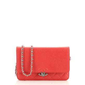 Chanel Wallet on Chain Red Leather Handbags