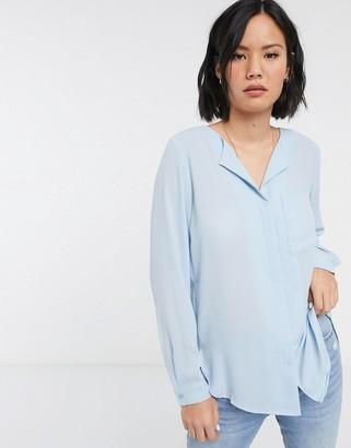 Selected Dynella long sleeve shirt-Blue