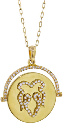Nevernot Diamond Fig Leaf Yellow Gold Necklace