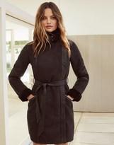 Lipsy Faux Fur Bonded Wrap Coat