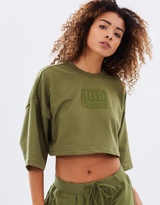 Cropped Crew-Neck T-Shirt