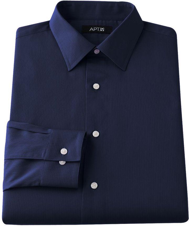 Apt. 9 slim-fit solid spread-collar dress shirt - men