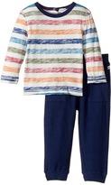 Splendid Littles Reverse Printed Stripe Shirt and Pants Set Boy's Active Sets