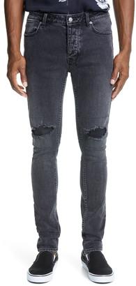 Ksubi Van Winkle Ash Ripped Skinny Fit Jeans