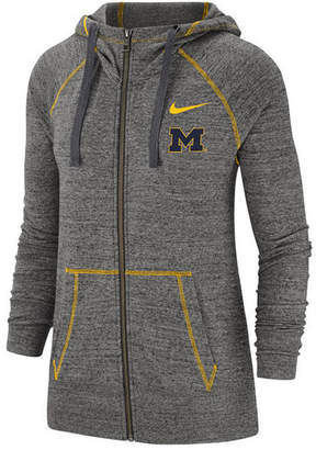 Nike Women Michigan Wolverines Gym Vintage Full-Zip Jacket