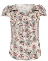 **Billie & Blossom Cream Floral Print Blouse