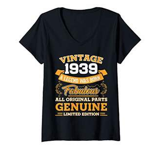 Womens Funny 80th Birthday Shirts 80 Years Old Gifts V-Neck T-Shirt