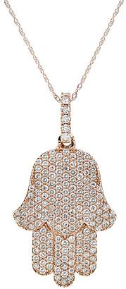 Diana M Fine Jewelry 18K Rose Gold 2.00 Ct. Tw. Diamond Necklace
