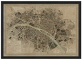 Paris 1830 Map (Framed)