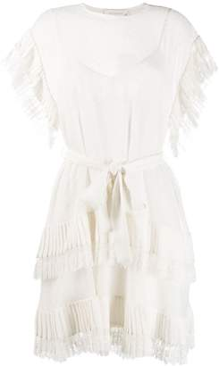 Zimmermann short sleeve tiered dress