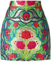 Gucci floral brocade mini skirt - women - Silk/Cotton/Polyamide/metal - 42