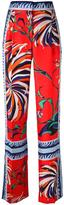 Emilio Pucci mixed print trousers - women - Silk/Acetate/Viscose - 40