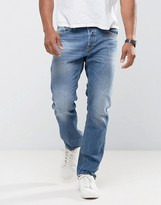 Diesel Jeans Waykee 842h Loose Straight Fit Stretch Light Wash
