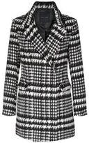 New Look Black Houndstooth Coat