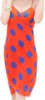 CHANGY Women's Sexy Bikini One Piece Cover up Bohemian Beach Wrap Dress Scarves-oranzebra