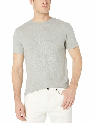 French Connection Men's Short Sleeve Crew Neck Regular Fit Graphic T-Shirt