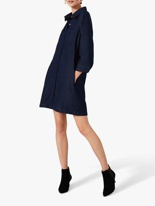 Phase Eight Katie Denim Mini Dress, Indigo