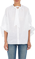 Thierry Colson Women's Cotton Tieneck Blouse