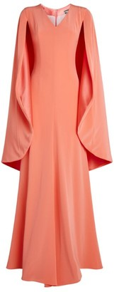 Alexis Mabille Satin Cape Gown