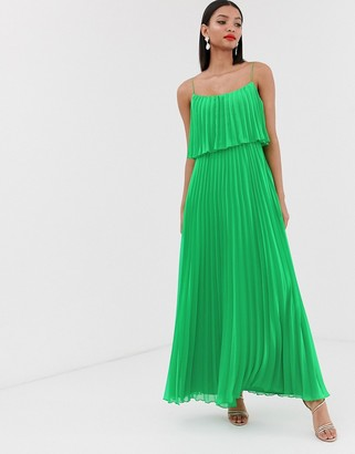 Asos DESIGN pleated crop top maxi dress