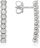 Forzieri 0.63 ctw Nine-Stone Drop Diamond 18K Gold Earrings