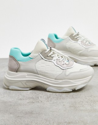 Bronx chunky trainers in pastel leather
