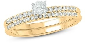 Cali Trove 1/2 Cttw Diamond Bridal Ring made in 10kt Gold.