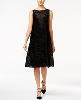 Alfani Petite Burnout Fit & Flare Dress, Only at Macy's