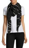 Saint Laurent Stripe Wool Scarf