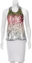 Elizabeth and James Sequined Sleeveless Top